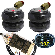 #2500 Air Bags Air Ride Springs Pair FREE AVSX 7-Switch Controller, Fittings