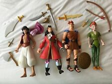 Disney Store Aladdin Hook Hercules Peter Pan ADVENTURERS Action Figure Hero