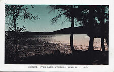 Sunset over Lake Muskoka BALA Ontario Canada 1940s Huntsville Forester Postcard
