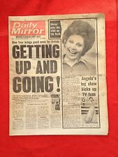 Daily Mirror newspaper 6th January 1977. Angie Best. Jilly Johnson