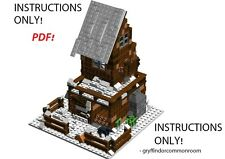 Lego Custom Rustic Snow Cabin Retreat PDF INSTRUCTIONS ONLY