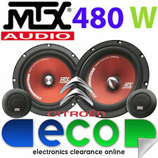 "Citroen Berlingo 96-08 MTX 6.5"" 480 Watts Component Kit Front Door Car Speakers"