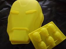Set of 2  IRONMAN Mask Silicone Cake Pan Ice Tray Birthday Topper Chocolate