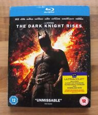 BATMAN - THE DARK KNIGHT RISES 2 DISC BLU-RAY EDITION Inc OUTER SLEEVE SLIP CASE