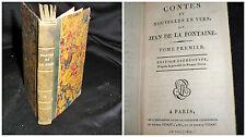Contes et nouvelles en vers par Jean de la Fontaine Tome 1er Paris 1800