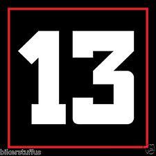 NUMBER 13 HELMET STICKER FLAG HARD HAT STICKER