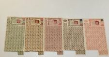 1944 China Chinese Victory bond Set: 200,500, 1,000, 5,000 & 10,000 (SCRIPOPASS)