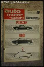 AMS Auto Motor Sport 10/64 Ford 12 M Coupe Porsche 904 Ford Mustang