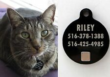 Custom Engraved Pet Tag with Magnetic Key for Petsafe / Staywell / Catwalk Doors