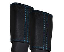 BLUE STITCH FITS LEXUS SOARER SC300 SC400 2X FRONT SEAT BELT LEATHER COVERS