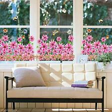 Beautiful Flowers Floral Living Room Bedroom Wall Sticker Home Decor Deacl Paper