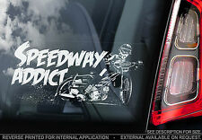 Speedway Addict! - Car Window Sticker - Belle Vue Motorbike Badge Design - TYP1