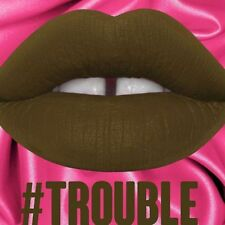 LIME CRIME VELVETINE VELVETINES TROUBLE OLIVE COLOR MATTE LIPSTICK LIP COSMETICS