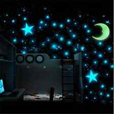 100PCS DIY Glow In The Dark Stars Wall Sticker Kids Bedroom Room Ceiling Decor