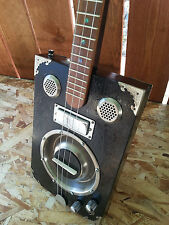 "**Delta Star ""BLACK MAMBA"" PRO Resonator Cigar Box  Dobro Style Guitar!"