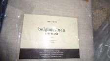 2 West Elm Belgian flax Linen drapes panels 48 X 96 natural New with tags