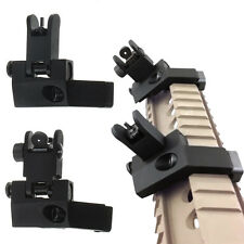 Front and Rear Flip Up 45 Degree Offset Rapid Transition Backup Iron Sight New