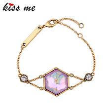 KISS ME Women Simple Charm Bracelet Unique Gold Plated Vintage Jewelry sl00593