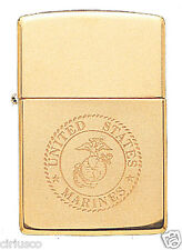USMC Marine Corps Solid Brass Engraved EGA Logo Military Zippo Lighter Semper Fi