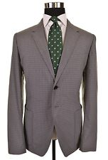 Paul Smith Gray Micro Gingham Check Cotton Blend Sport Coat Jacket 52 42