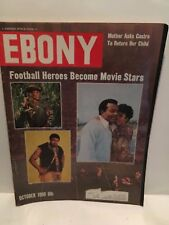 RARE EBONY MAGAZINE October 1969 Football Heroes Become Movie Stars Jim Brown