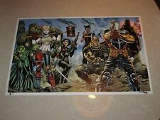2017 ECCC SUICIDE SQUAD ART PRINT ART BY JIM LEE & ALEX SINCLAIR 11x17