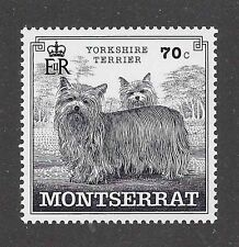 Dog Art Full Body Portrait Postage Stamp YORKSHIRE TERRIER Montserrat MNH