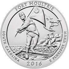 2016 25c 5 oz. Silver America the Beautiful (ATB) Fort Moultrie NP SKU43808