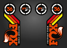 FOX 36 HERITAGE 2015 FORK / SUSPENSION DECAL SET RAINBOW ORANGE