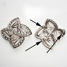 Antique Silver Vintage Style Rhinestone Etoile Connector 1pc Crafts (#4258)