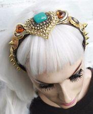 Cuore pulsante dell' oro argento vintage arrugginite Indie CROWN VINTAGE Cerchietto 20V GATSBY