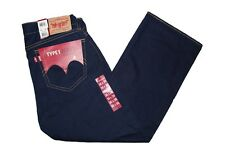 NEW LEVIS TYPE 1 REAL LOOSE MEN'S VINTAGE WASH DARK BLUE DENIM JEANS size 36x30