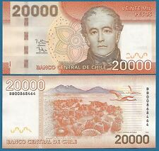 Chile 20000 Pesos P 165 New Date 2013 UNC Low Shipping! Combine FREE! (20,000)