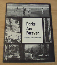 """1964 TRAVEL/Information Booklet~""""PARKS ARE FOREVER""""~CA State Park System~MAP~"""