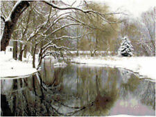 Winter Reflections Landscape Counted Cross Stitch Pattern Chart Design