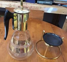 VINTAGE CORNING COFFEE MAKER With Stand Glass Pyrex RARE