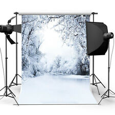 Winter Snow Scene Xmas Photography Lighting Studio Backdrop Photo Background New