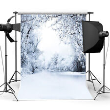 5x7ft Snow Christmas Cloth Background Photography Photo Backdrop Studio Props