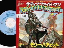 "Promo! MOLLY HATCHET Satisfied Man JAPAN 7"" RECORD w/Pic Sleeve 07.5P-321 FreeSH"