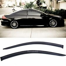 Fit 03-07 Honda Accord 2dr 2Pcs Sun Vent Guard Wind Deflector Window Visors