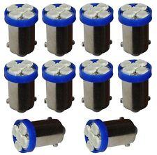 10x ampoule T4W T5W BA9s 12V 5LED SMD bleu éclairage intérieur plaque coffre