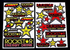 2 Sheets motocross Stickers atv mx Energy Rockstar BMX Bike Y3RR decal moped