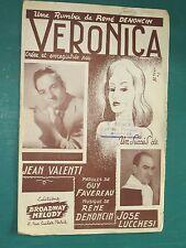 """Partition Chant """"Véronica """" DENONCIN FAVEREAU"""
