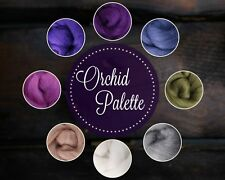 NEW Ashford Corridale ORCHID Palette Wool Roving, Needle Felting Spinning 2 ozs.
