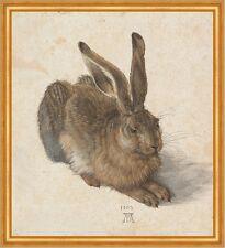 Der Feldhase Albrecht Dürer Hase Kaninchen Naturstudie LW Alte Meister A2 066