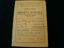 Vintage 1905 1906 Jackson County Graded District Report Card Michigan School A18