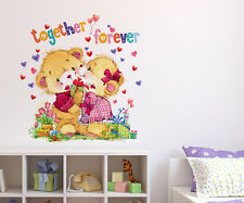 Wall Stickers Kids Room Together Forever Teddy Bear Design 6400015
