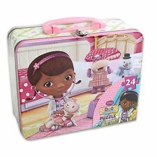 Tin Metal Lunch Snack Toy Box + Puzzle Disney Doc McStuffins NEW