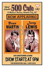 DEAN MARTIN JERRY LEWIS 1946 Atlantic City 500 CLUB CAFE  POSTER AR THouse 2015