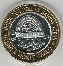 2000 Monte Carlo Mill. High Roller Red Ale .999 Fine Silver $10 Casino Token